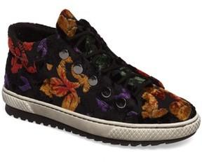 Gabor Women's Mid Top Velvet Sneaker