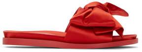 Simone Rocha Red Satin Bow Slides