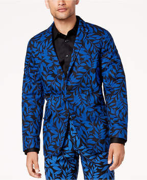 INC International Concepts I.n.c. Men's Slim-Fit Leaf-Print Blazer, Created for Macy's