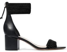 Rachel Zoe Macramé Leather And Suede Sandals