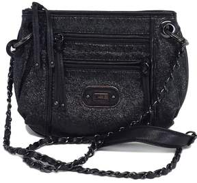 Rafe Black Metallic Leather Crossbody Bag