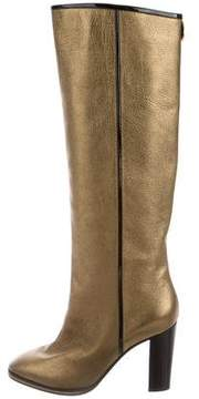 Pollini Metallic Knee-High Boots