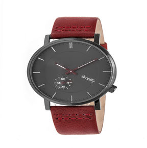 Simplify Unisex Red Strap Watch-Sim3605