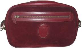 Cartier Burgundy Suede Clutch Bag
