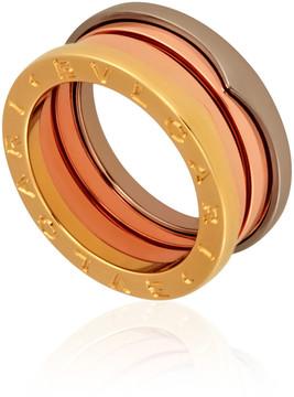 Bvlgari B.Zero1 18K Pink White and Yellow Gold 3 Band Ring