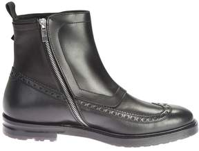 Alexander McQueen Black Triple Buckle Ankle Boots