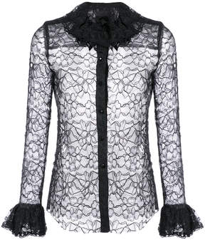 Anna Sui lace and frill shirt
