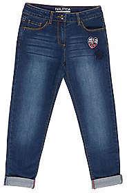 Nautica Little Girls' Patch Jeans (4-7)