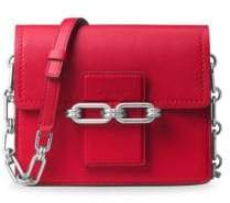Michael Kors Cate Leather Small Shoulder Bag - CRIMSON - STYLE