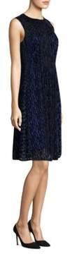 Elie Tahari Demetria Velvet Shift Dress