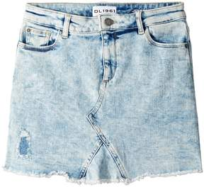 DL1961 Kids Acid Rinse Distressed Mini Skirt Girl's Skirt