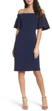 Charles Henry Women's Off The Shoulder Sheath Dress