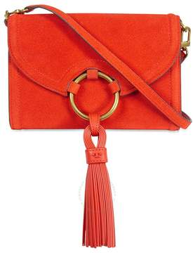 Tory Burch Tassel Suede Crossbody - Pure Orange - ONE COLOR - STYLE