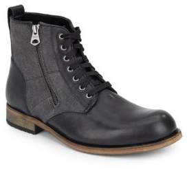 Andrew Marc Forest Leather & Canvas Boots
