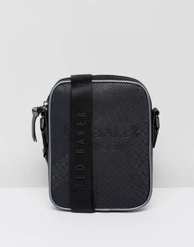 Ted Baker Embossed Flight Bag Heliox in Black