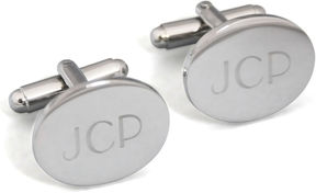 Accessories Engravable Oval Cufflinks