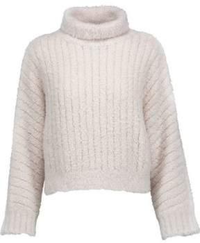 Brunello Cucinelli Flocked Cashmere-Blend Turtleneck Sweater