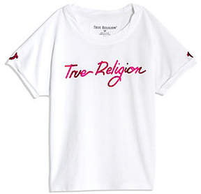 True Religion GRADIENT TODDLER/BIG KIDS TEE