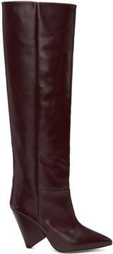 Isabel Marant Burgundy Lokyo Knee-High Boots