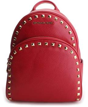 Michael Kors Red Studded Abbey Leather Backpack