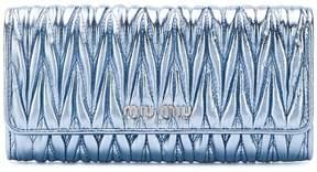 Miu Miu Matelassé continental wallet