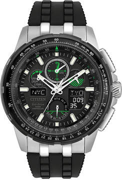 Citizen Eco-Drive Men's Analog-Digital Skyhawk A-t Black Strap Watch 47mm JY8051-08E