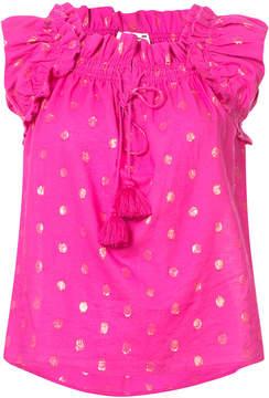 Figue Gianna metallic polka-dot blouse
