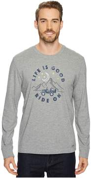 Life is Good ATV Ride Long Sleeve Crusher Tee Men's Long Sleeve Pullover