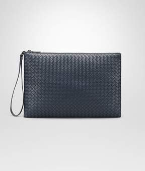 Bottega Veneta Denim Intrecciato Nappa Document Case