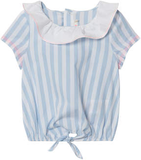Billieblush Blue and White Collared Blouse