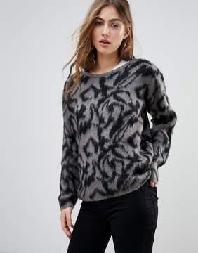 Blend She Saz Animal Jacquard Knit Sweater