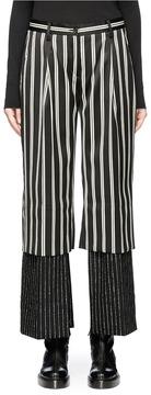 Aalto Panelled cuff underlay stripe virgin wool pants