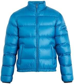 Prada Funnel neck long-sleeved down padded jacket