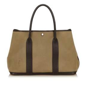 Hermes Garden Party cloth handbag - BROWN - STYLE