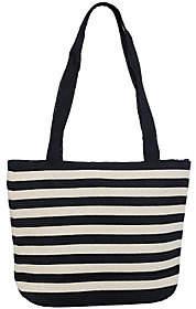 Denim & Co. Beach Bag with Zipper