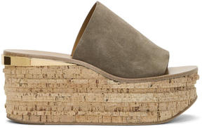 Chloé Grey Suede Camille Sandals