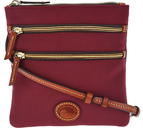 Dooney & Bourke As Is Nylon North South Triple Zip Crossbody - ONE COLOR - STYLE