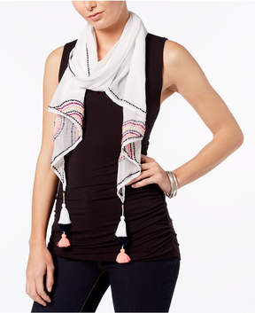 INC International Concepts I.n.c. Embroidered Tassel Scarf, Created for Macy's