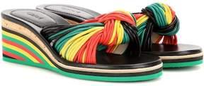 Chloé Jody leather wedge sandals