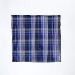 Blade + Blue Olive Plaid Brushed Cotton Pocket Square