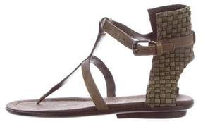 Henry Beguelin Leather T-Strap Sandals