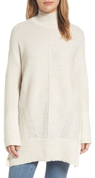 Caslon Women's Ribbed Turtleneck Tunic Sweater