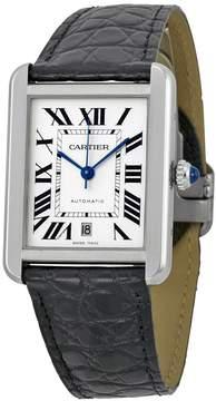Cartier Tank Solo XL Automatic Silver Dial Men's Watch