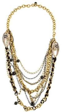 Alexis Bittar Multistrand Lucite, Crystal & Faux Pearl Necklace