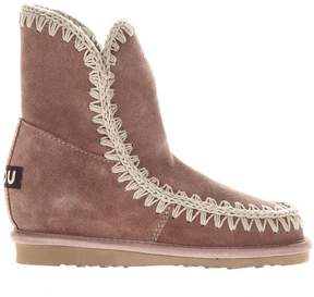 Mou Rose Suede Eskimo Iw Summer Ankle Boots
