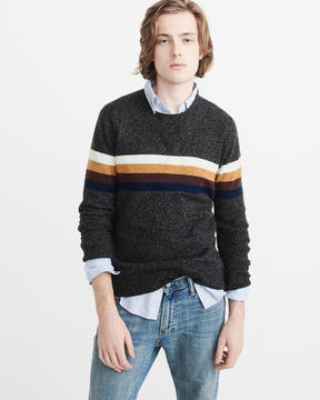 Abercrombie & Fitch Striped Crew Sweater