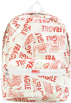 MM6 MAISON MARGIELA fragile print backpack