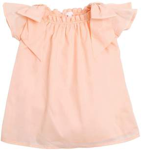 Chloé Cotton Muslin Dress W/ Bows