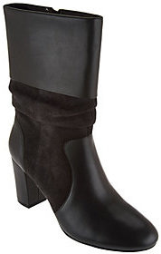 C. Wonder As Is Leather and Suede Mid- Calf Slouch Boots-Amanda