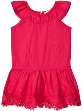 Lili Gaufrette Fuchsia Lace Detail Dress
